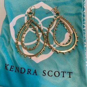 Kendra Scott gold double hoop earrings